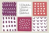Vector card set of grunge brush strokes. Vector brush strokes collection. — Stock vektor