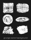 Vector set of grunge brush strokes. Vector brush strokes collection. — Cтоковый вектор