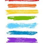 Vector rainbow set of grunge brush strokes. Vector brush strokes collection. — Stock Vector #77310184