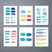 Vector set of grunge brush strokes. Vector brush strokes collection. — Stockvektor