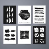 Vector set of grunge brush strokes. Vector brush strokes collection. — Stockvector