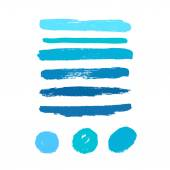 Vector set of grunge brush strokes. Vector brush strokes collection. — ストックベクタ