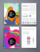 Colorful stains bright cards or pages layout template — Stock Vector