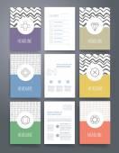 Modern cards design template. — Stock Vector