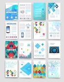 Modern cards design template. — Stockvector