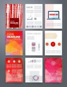 Modern cards design template with grungy rough colorful brush strokes — Vetor de Stock