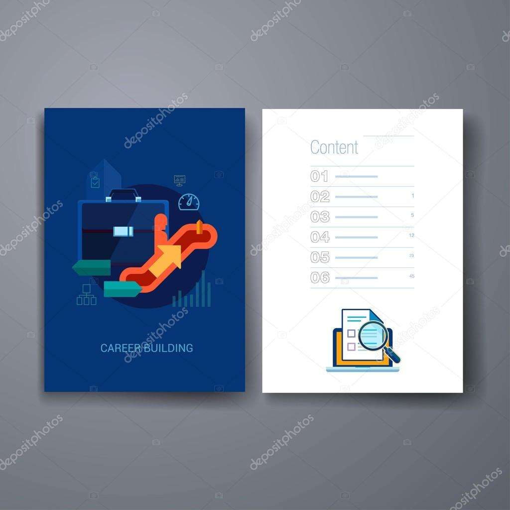 modern career promotion and human resources flat icon cards modern career promotion and human resources flat icon cards design template stock vector