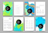 Templates. Design Set of Web, Mail, Brochures. Mobile, Technology, Infographic Concept. — Stock vektor