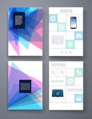 Templates. Design Set of Web, Mail, Brochures. Mobile, Technology, Infographic Concept. — 图库矢量图片