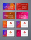 Colorful tiles templates for web, ui and pring cards — Stock Vector