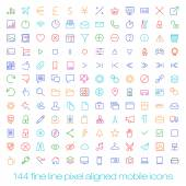 Modern user interface line icons, pixels perfect optimized. — Stock vektor