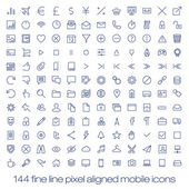 Modern user interface line icons, pixels perfect optimized. — Stock Vector