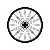 Bicycle wheel — Stock Vector