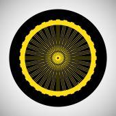 Bisiklet tekerleği simgesi — Stok Vektör