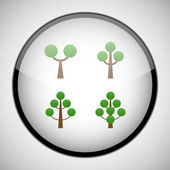 Tree in circle frame. Icon concept — Stock Vector