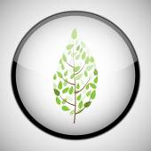 Tree in circle frame. Icon concept — 图库矢量图片