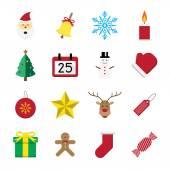 Christmas icon set vector illustration — Stock Vector