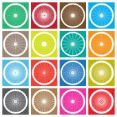 Bicycle wheel icon set vector illustration — Wektor stockowy