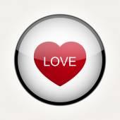 Vector Love Heart Circle Design — Stockvektor