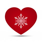 Vector Love Heart Snowflake Illustration — Vector de stock