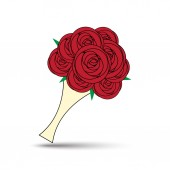 Vector Love Rose Bouquet Illustration — Vector de stock