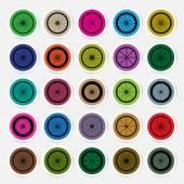 Bicycle wheels sticker vector illustration — Stok Vektör