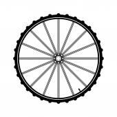 Bicycle wheel vector illustration — Stok Vektör