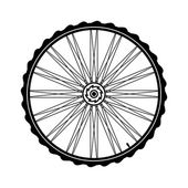 Bicycle wheel vector illustration — Stock Vector