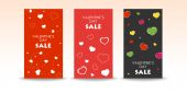 Valentine sale banners — Stock Vector
