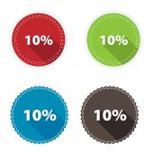 Circle icons - 10 percent. — Stock Vector