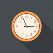 Saat düz simgesi — Stok Vektör