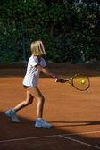 Szkoła tenisa — Zdjęcie stockowe