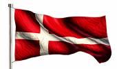 Denmark National Flag — Stock Photo