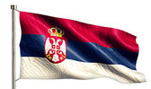 Serbia National Flag — Stock Photo