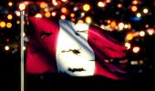 Peru National Flag — Stock Photo