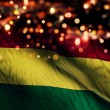 Bolivia National Flag Light Night Bokeh Abstract Background — Stock Photo #52504635