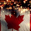 Canada National Flag Light Night Bokeh Abstract Background — Stock Photo #52504765