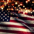 USA America National Flag Light Night Bokeh Abstract Background — Stock Photo #52508285