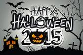 Happy Halloween 2015 Black Pumpkin Night Graveyard — Stock Photo