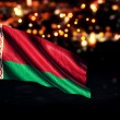 Belarus National Flag City Light Night Bokeh Background 3D — Stock Photo #59326221