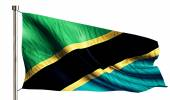 Tanzania National Flag Isolated 3D White Background — Stock Photo