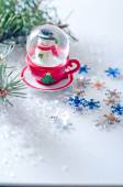 Snowflakes and  winter — Stock Photo