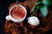 卡布奇诺咖啡杯子 — 图库照片