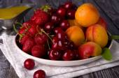 Assortment of juicy fruits — Stock Photo