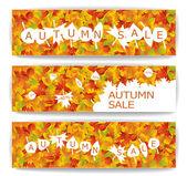 Autumn sale banners — Stock Vector