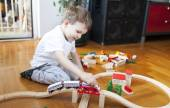 Trains are boys best friends — Stock Photo