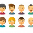 Male avatars with various hair styles — Stock Vector #51970693