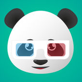 Panda avatar wearing glasses — Stock Vector
