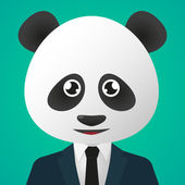 Panda avatar wearing suit — Wektor stockowy