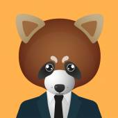 Red panda avatar wearing suit — Wektor stockowy